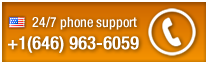 24-7 phone support +1(646) 963-6059